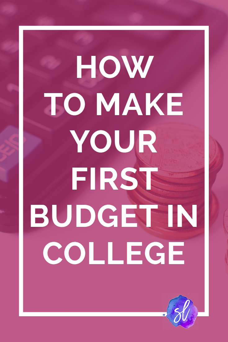 Confused about money and budgeting Use these easy actionable steps to create your first college budget in less than 10 minutes Save this pin and click through to read