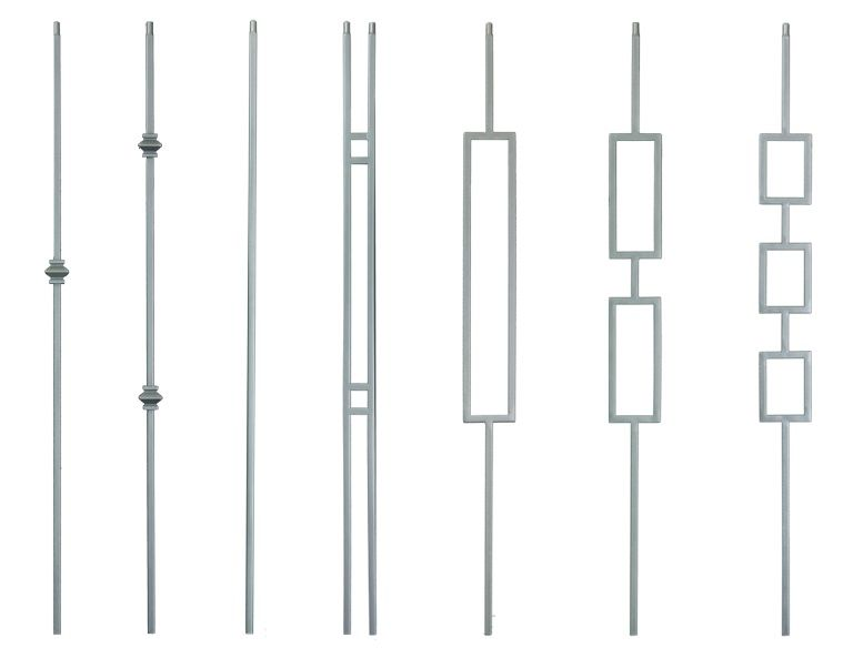Best Brushed Nickel And Ash Gray Modern Balusters With Images 400 x 300