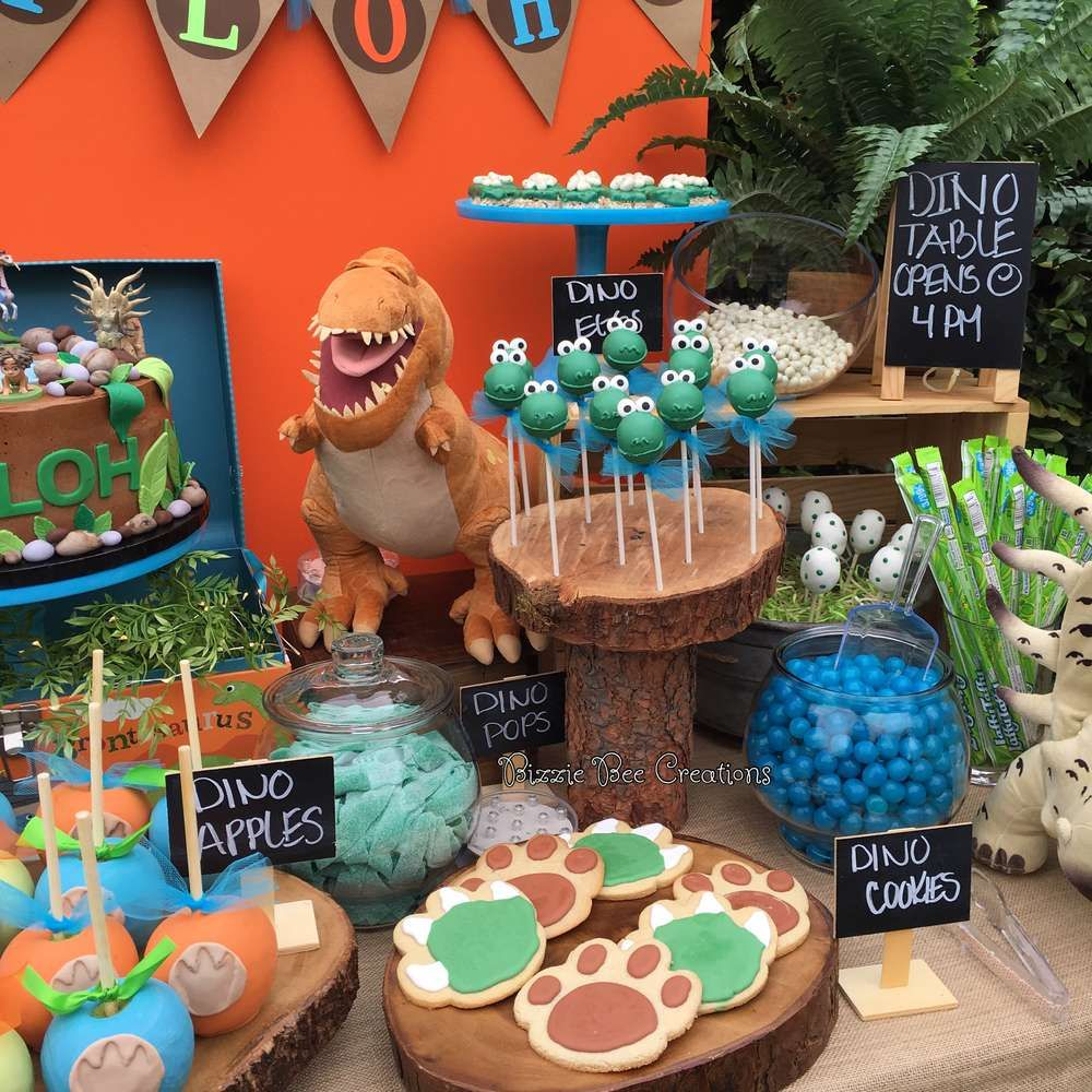 Fantastic Treats At A Good Dinosaur Birthday Party See More Ideas CatchMyParty