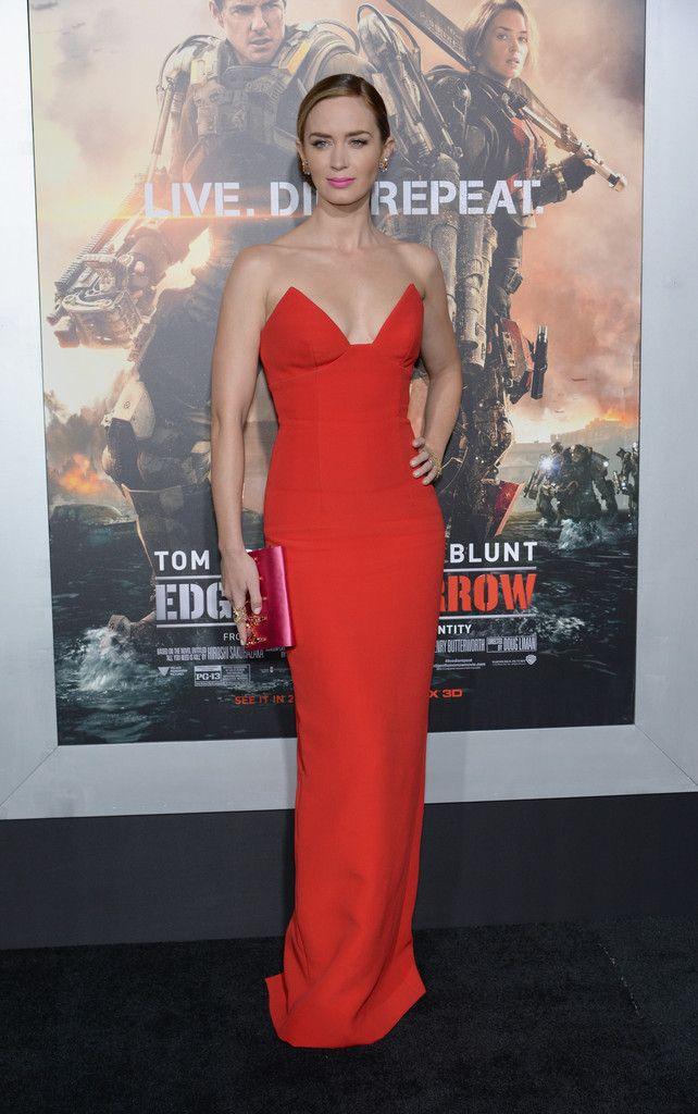 Emily Blunt in Prada 'Edge of Tomorrow' Premieres in NYC