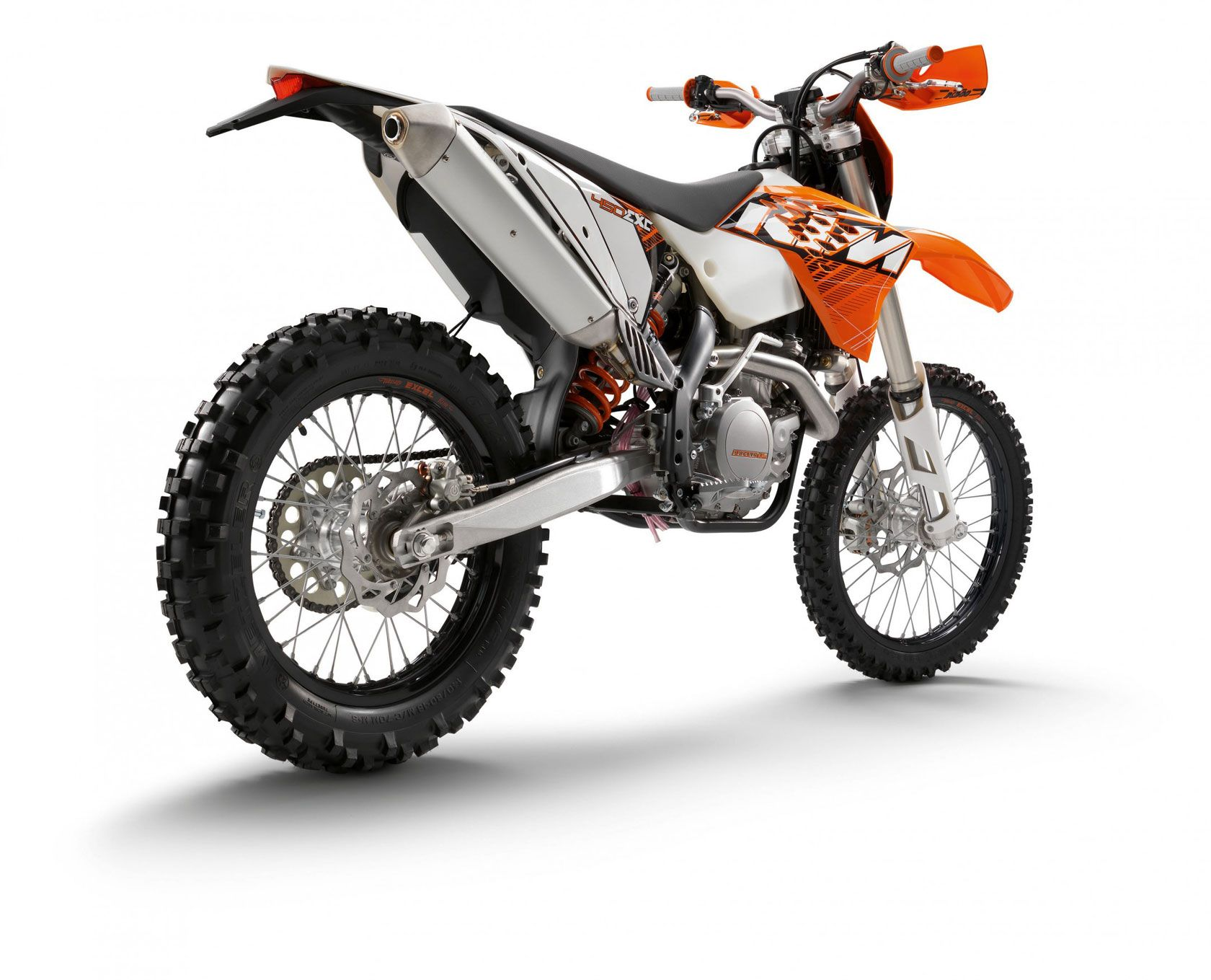 A KTM 450 EXC is a street-legal dual-sport. A champion can ...