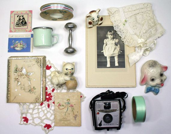 Instant Collection, VIntage Baby Shower and Baby Memorabilia #babymemorabilia Instant Collection VIntage Baby Shower and by myvintagenewengland, $45.00 #babymemorabilia