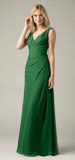this is a Wtoo 809 Bridesmaid dress  in emerald green