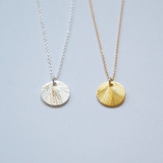gold en necklace disk disc no rose kmlo pendant listing il
