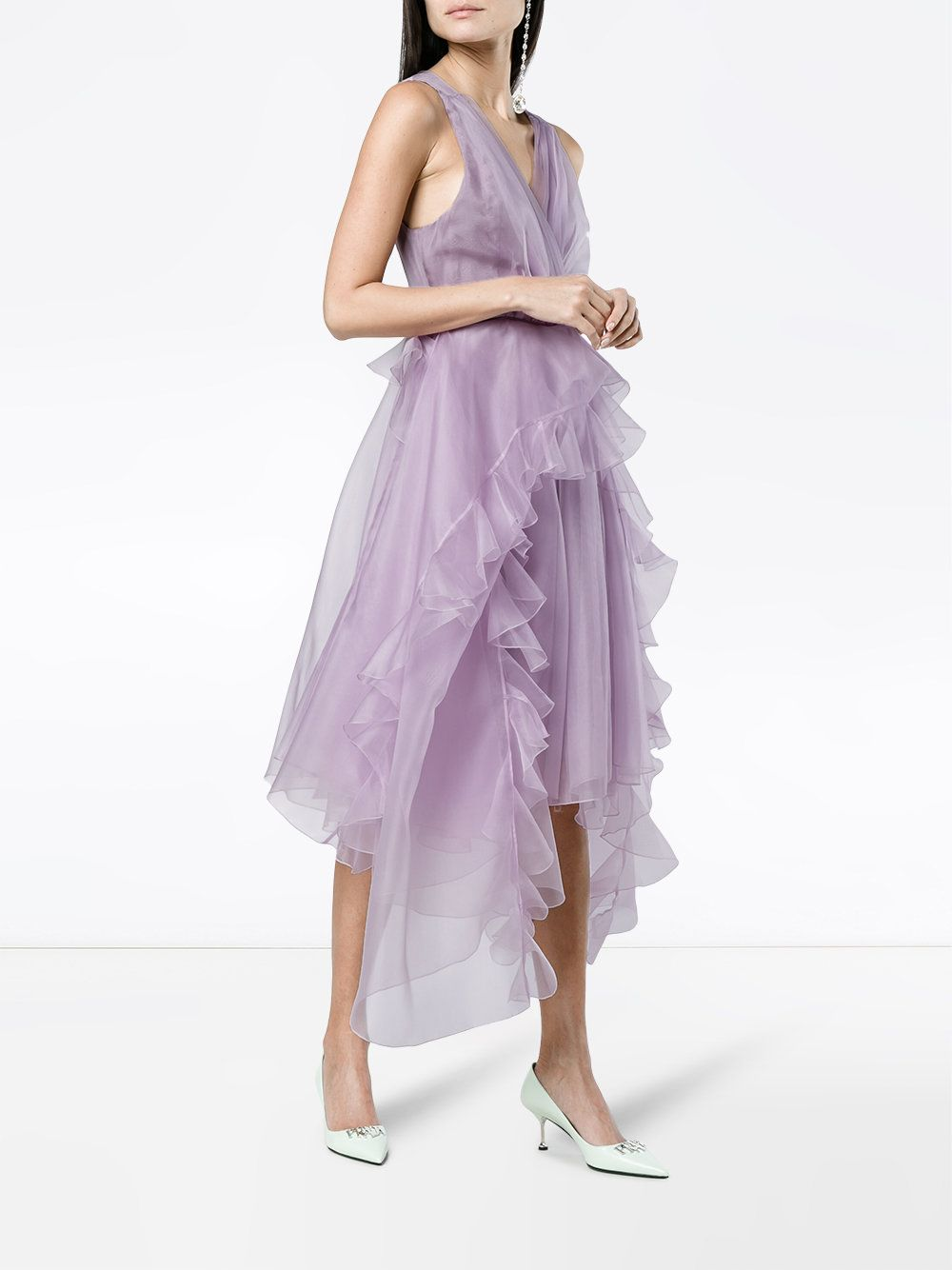 Preen By Thornton Bregazzi Ruffle dress with full skirt Free Shipping New Styles Pu451WHr