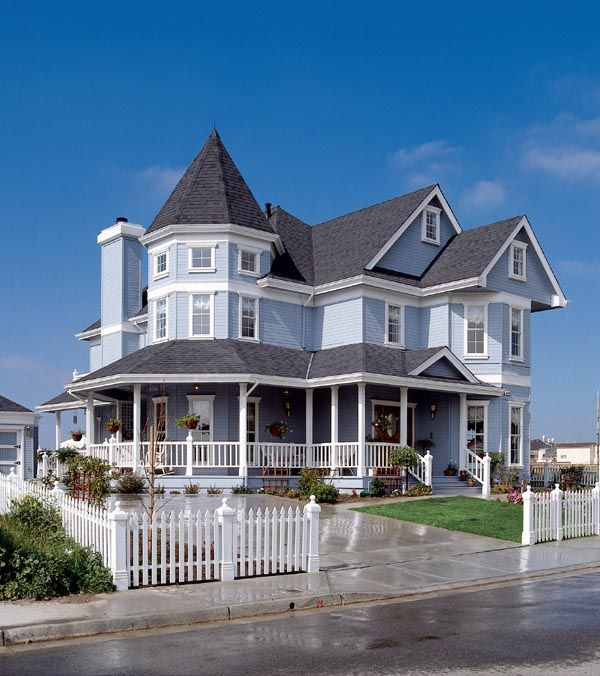 Victorian Basement: Country Farmhouse Victorian House Plan 95683
