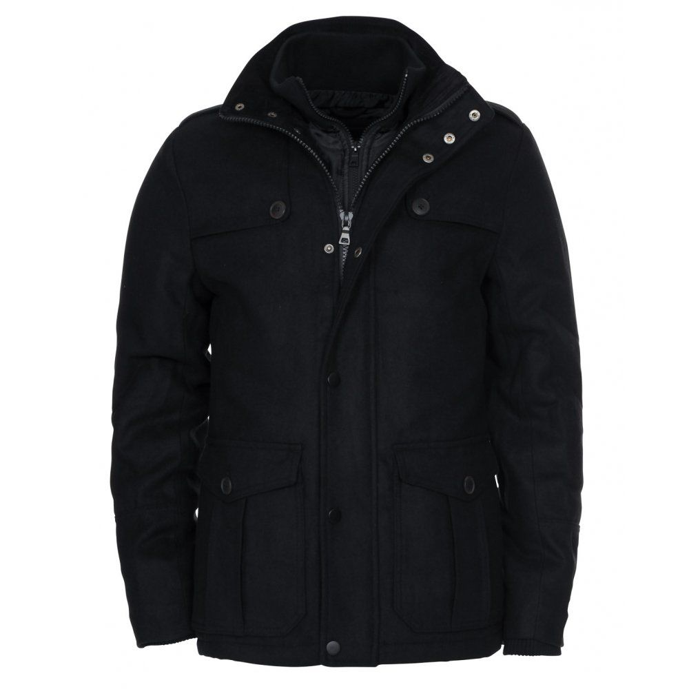 Twisted soul black parka jacket