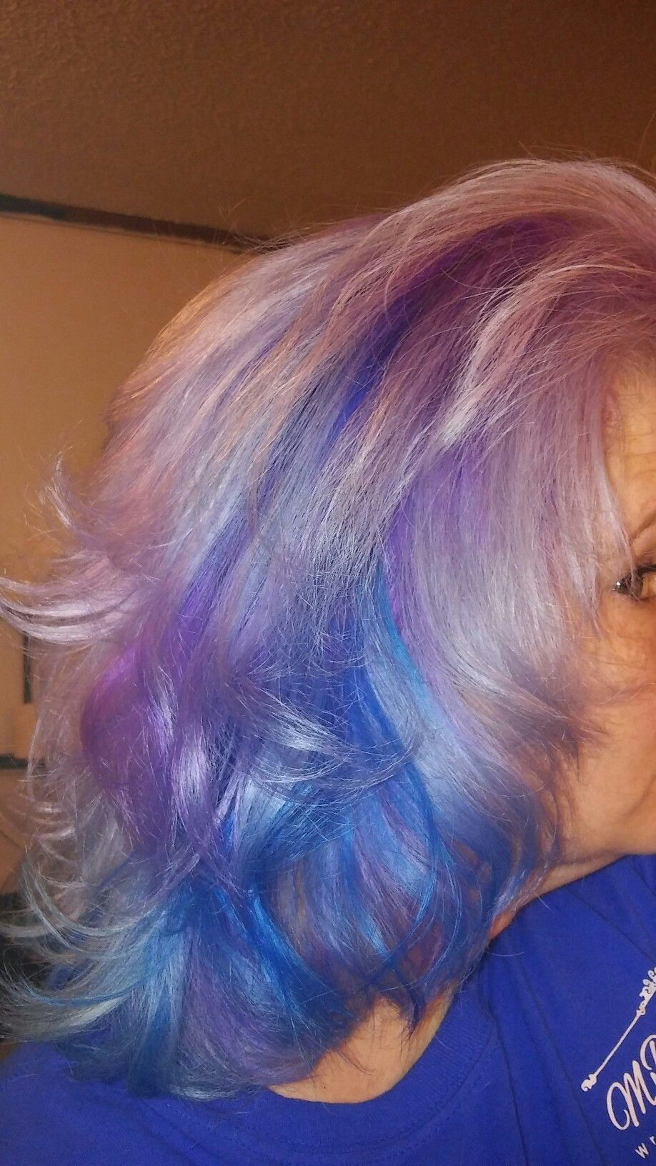 Aqua radiant orchid purple and lavender ion brights galaxy hair