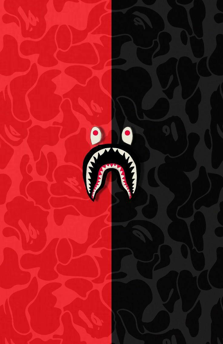 Bape Red And Black Two Side Wallpaper 4k Sejarah Seni Seni 3d Seni Grafis