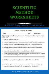 Paper Folding Scientific Method Worksheet Scientific Method Worksheet Scientific Method Worksheets