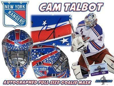 CAM TALBOT Signed NEW YORK RANGERS Full Size GOALIE MASK w/COA - Autographed NHL Helmets and Masks *** You can find more details by visiting the image link.