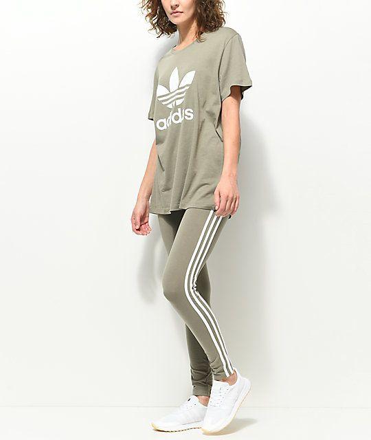 Leggings Fashion Olive Adidas Beautiful Stripe Leggings Inspo 3 Ag4qSwH