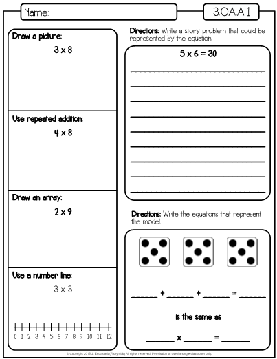 this is a set of worksheets for the third grade math standard 3 oa a 1 which is interpret. Black Bedroom Furniture Sets. Home Design Ideas