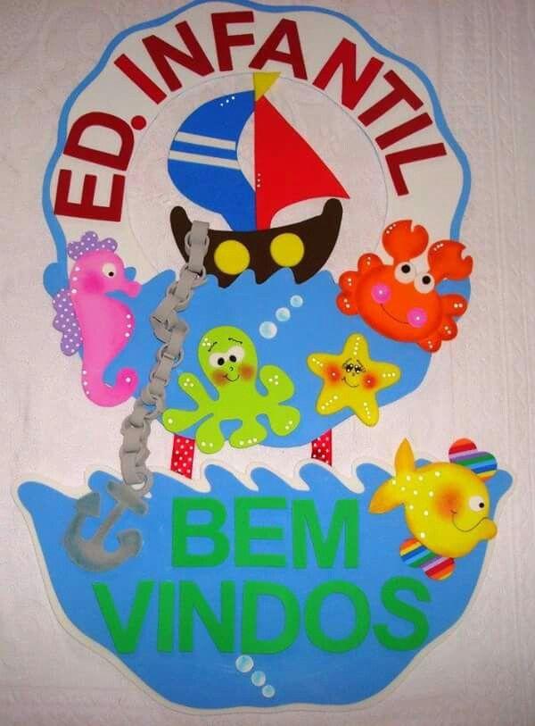 Fundo Mar Com Imagens Decoracao Sala De Aula Salas Decoracao