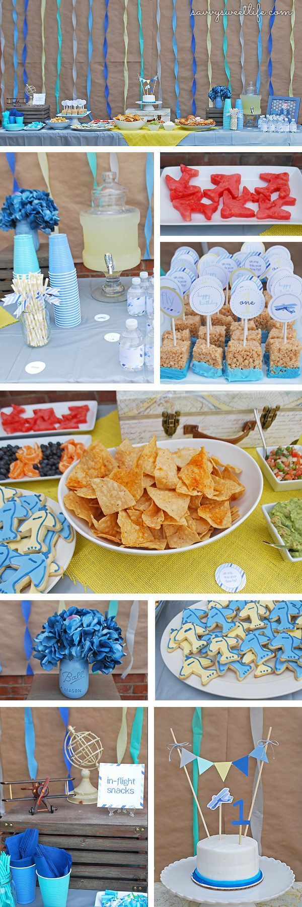 Vintage Airplane First Birthday Party Savvy Sweet Life diy