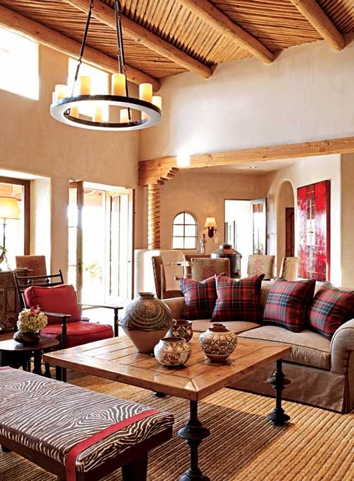 Pueblo Style Home With Traditional Southwestern Design Traditional Home Southwestern Home Decor Home Decor Styles Mediterranean Home Decor