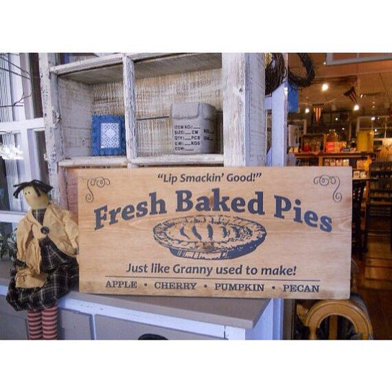 Fresh Baked Pie Sign Farmhouse asign Rustic by ScarletRenaissance