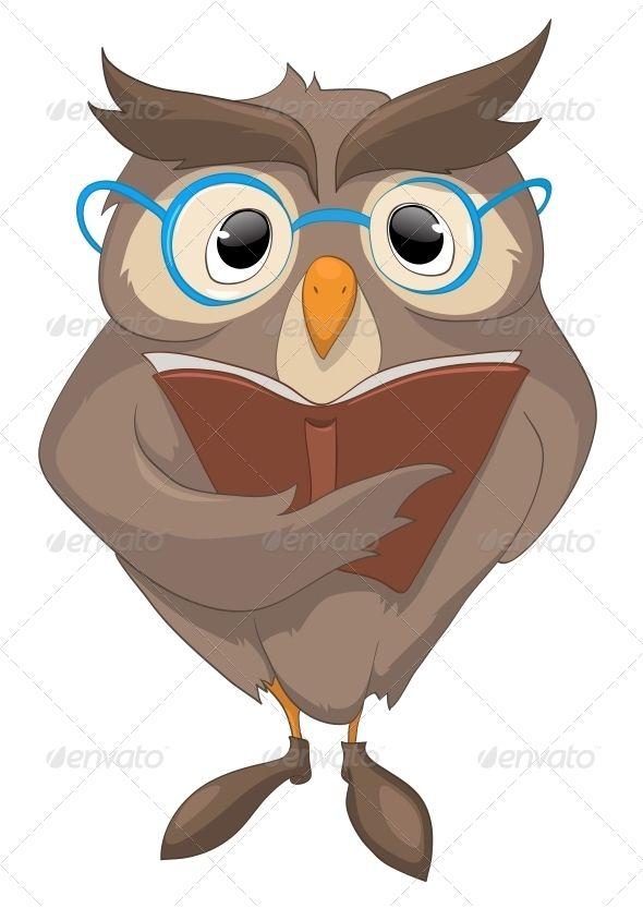 Cartoon Character Funny Owl Cartoon Characters Funny Owls Character Illustration