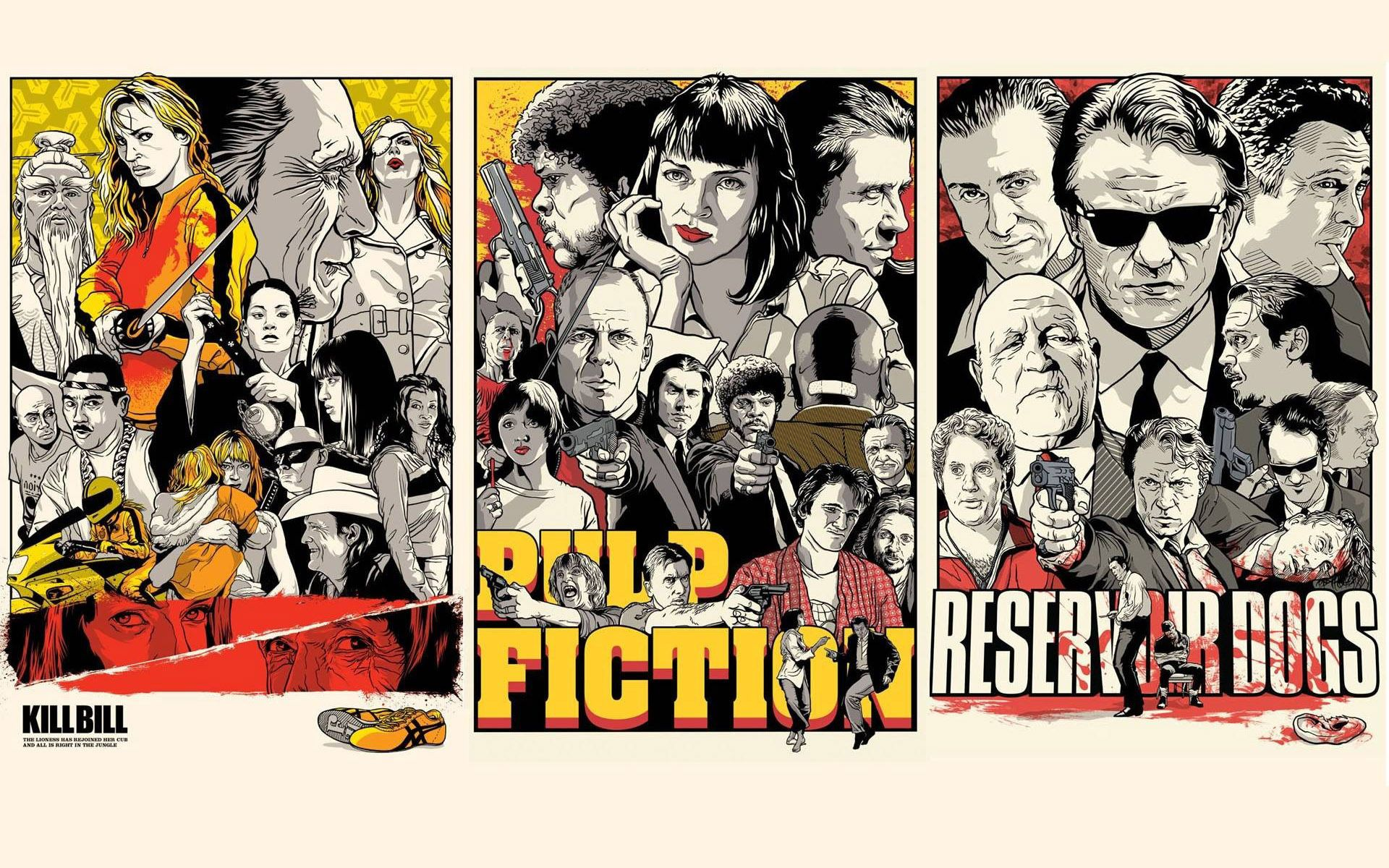 Quentin Tarantino Movies Artistic Hd Wallpaper 1920x1200