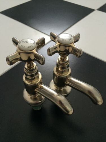 traditional bathroom taps Vintage Old Brass Taps By Pegler   Brass ...