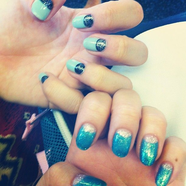 Gel manicures for Electric Zoo with @Ella Rinaldo