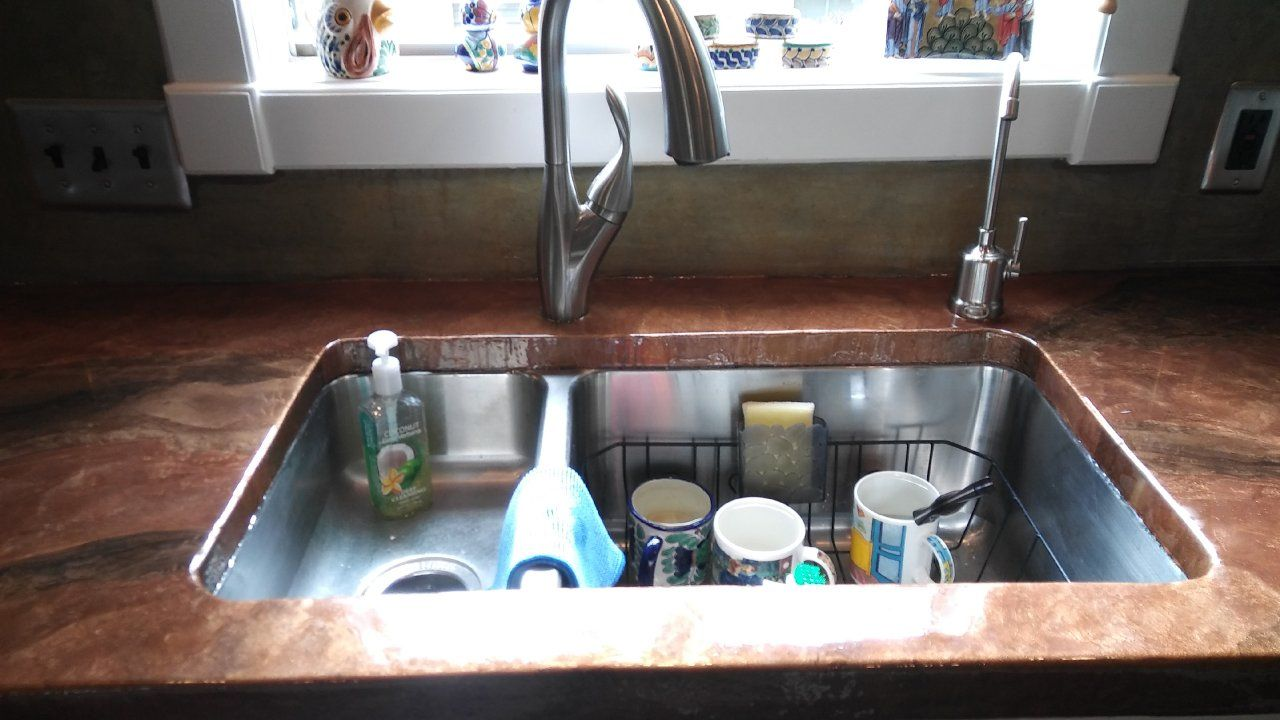 Beautiful Epoxy Countertops With Under Mount Sink In Houston, Texas.