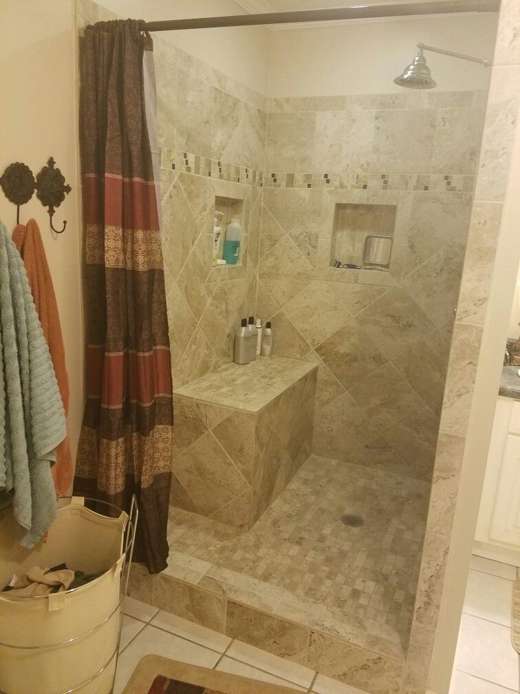 we love our new shower got all the materials from home depot we used
