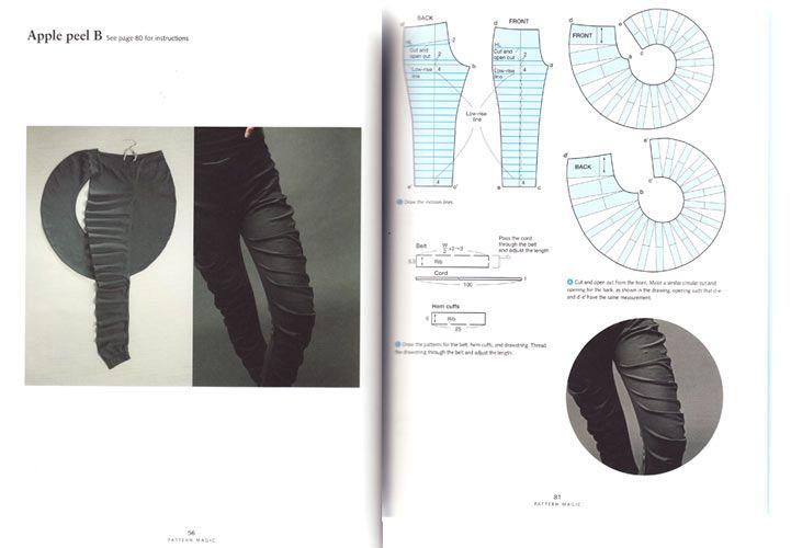 Draft pattern for Spiral/ Apple Peel Leggings
