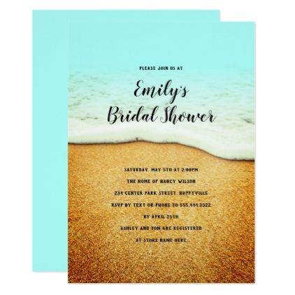 Bridal Shower Coastal Theme Invitation Template Invitation - business invitation templates