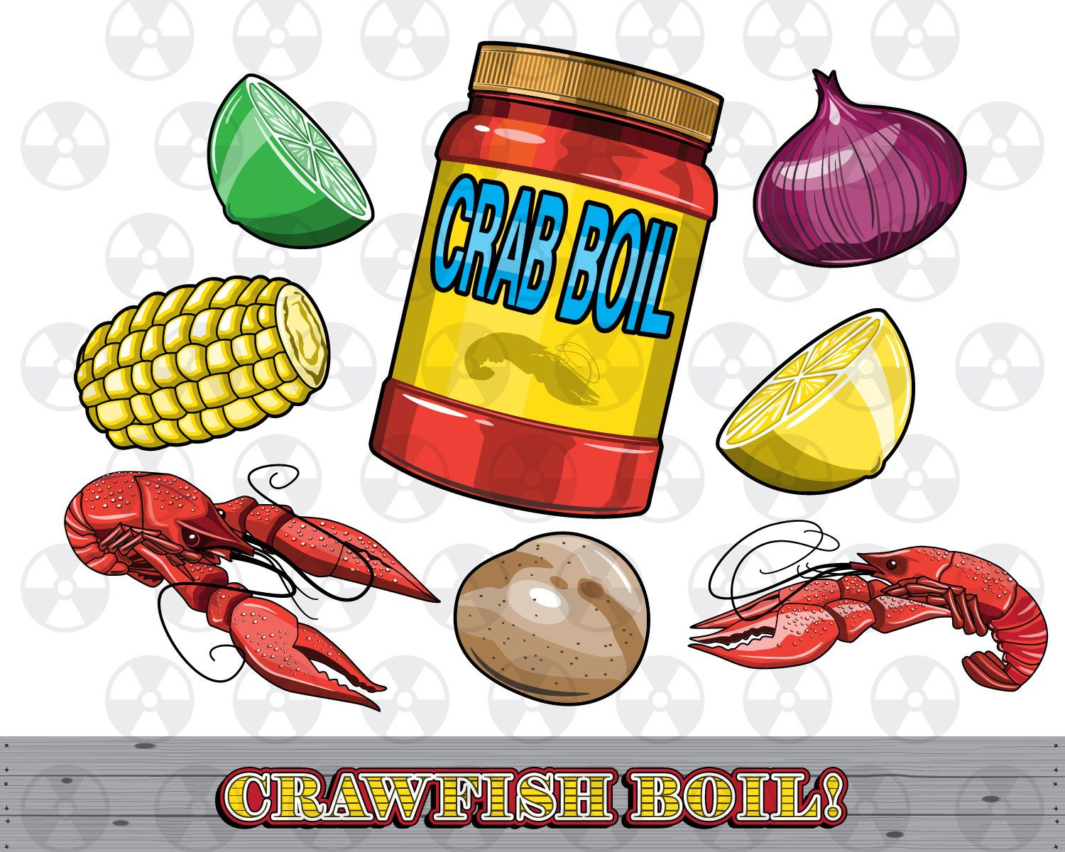 louisiana vector clipart crawfish boil clipart crawfish digital cartoon seafood clipart scrapbook making instant download by digitalmeltdown on etsy [ 1500 x 1200 Pixel ]