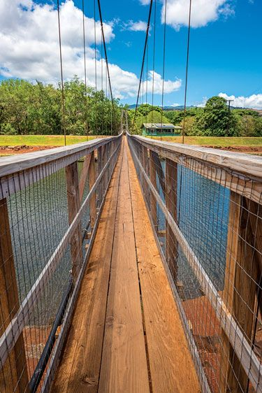 The Swinging Bridge In Hanapepe Aloha In 2019 Kauai