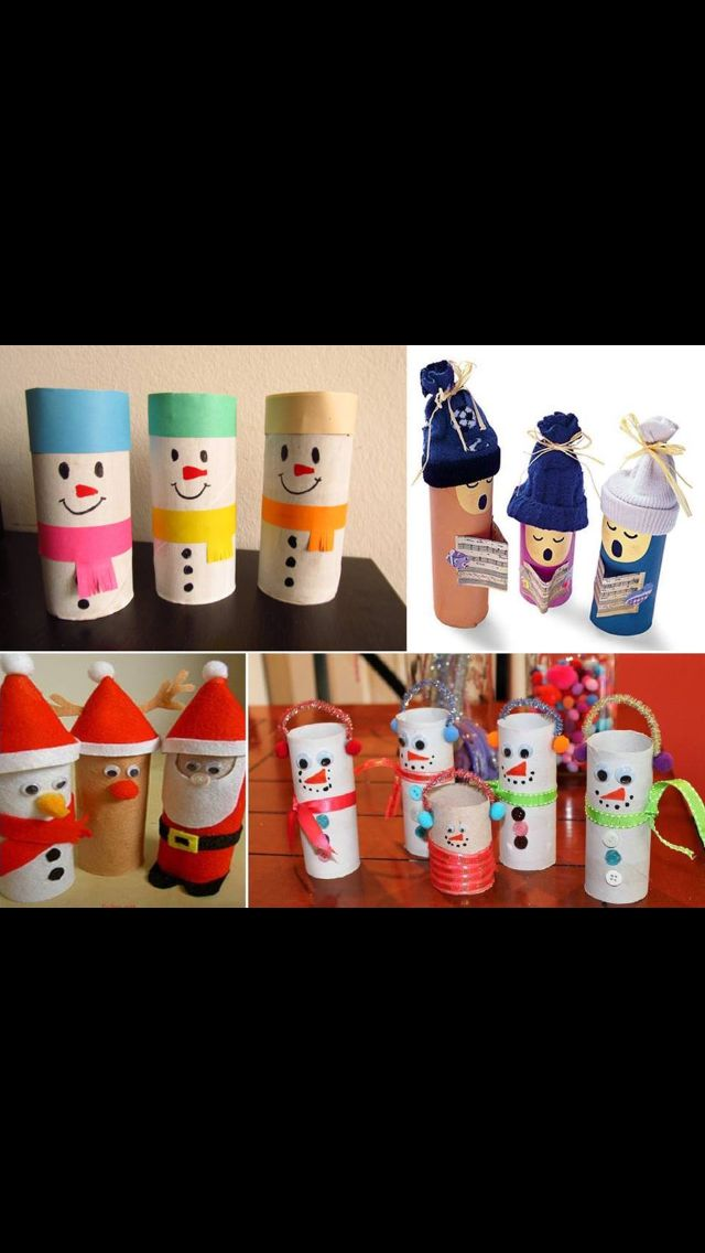 Christmas crafts out of toilet paper rolls