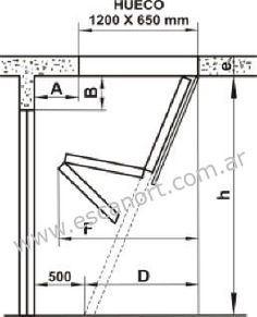 Plano escalera para altillos cosas para hacer for Escaleras plegables de aluminio para altillos