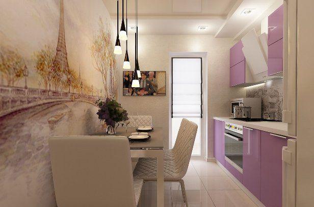 Интерьер кухни 9 кв.м в панельном доме - фото, дизайн ...