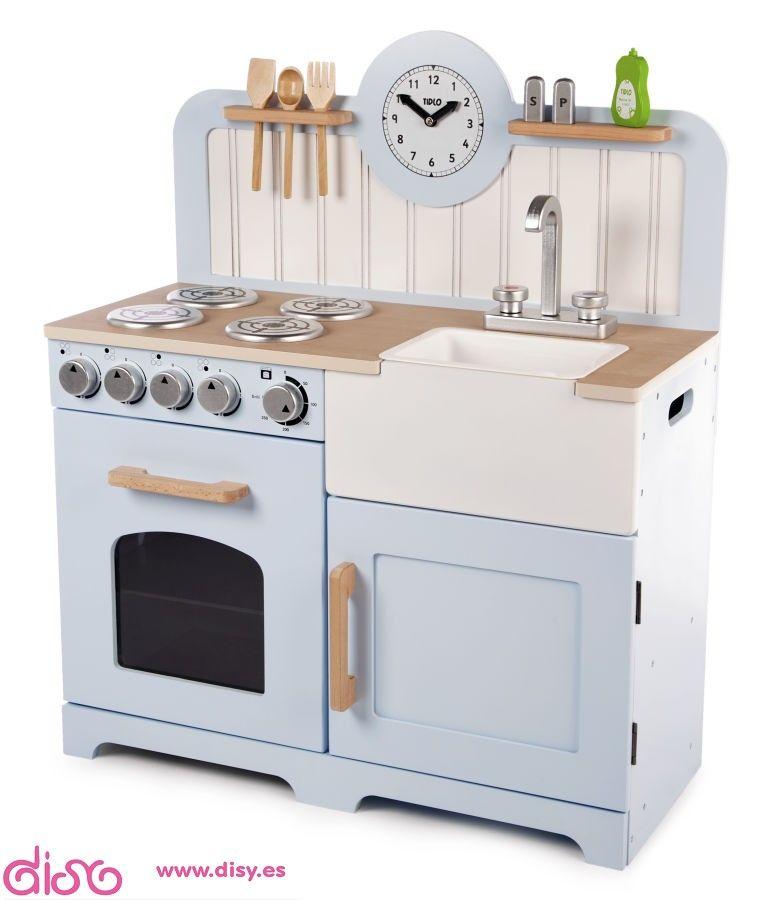 Cocinitas de juguete - cocina de madera elegante | juguetes diy ...