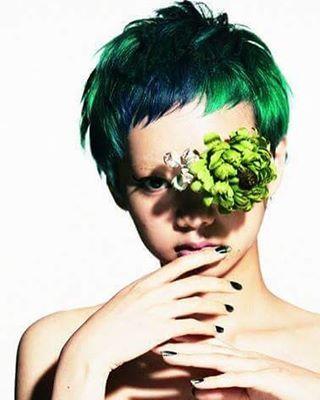 Green Passion Hair by HAIRISTA JP #hair #green #fashion #japan #hairstyle @theopenhair #like4like #share #theopenhair