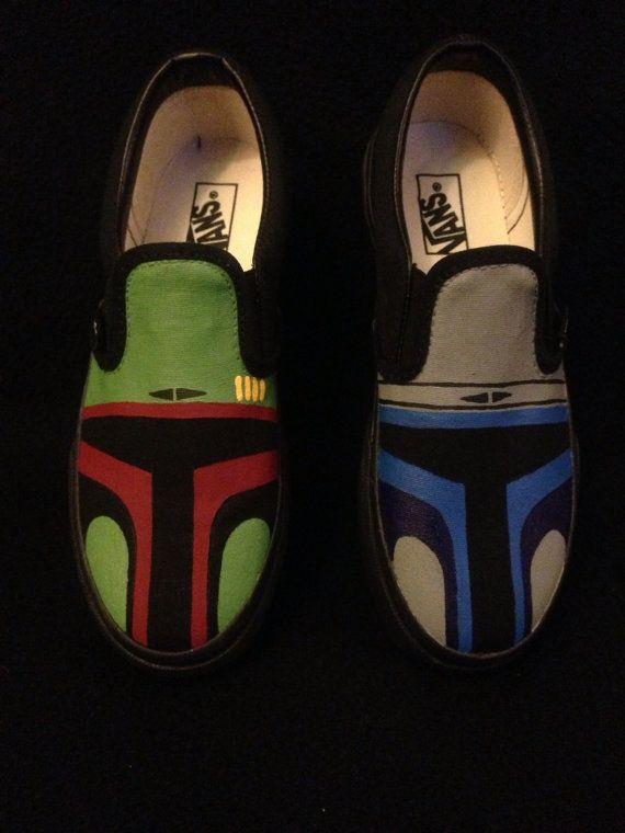 7b85b71fed Star Wars Boba Fett Jango Fett Hand Painted Custom Vans on Etsy ...