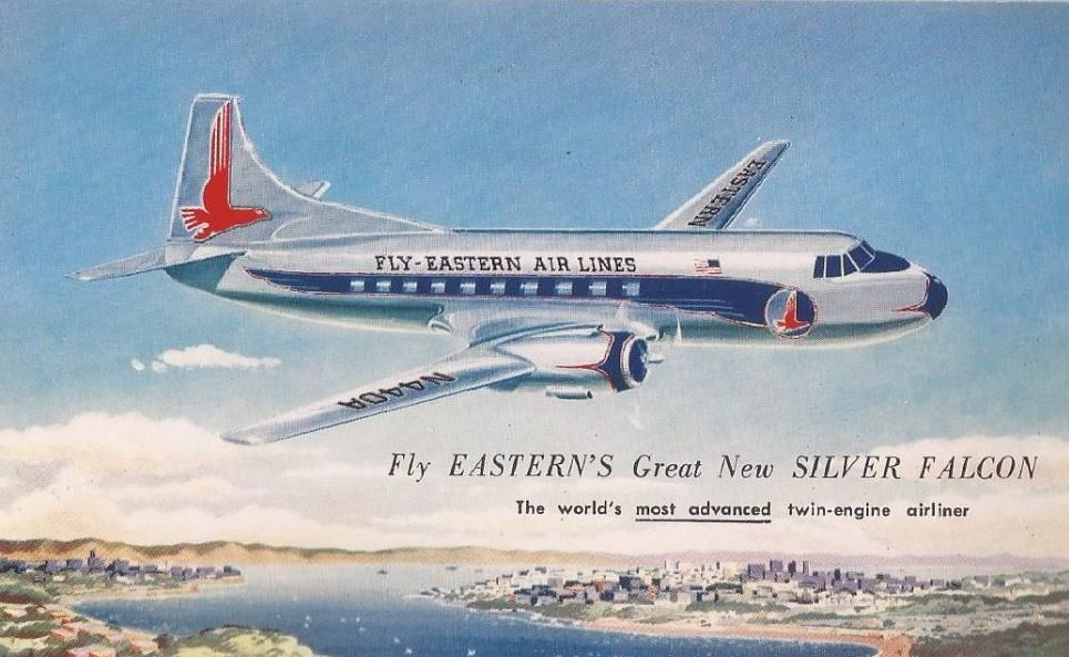Dc 7 Eastern Airlines Silver Falcon Service 1954