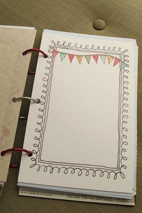 DIY Rahmen Deckblatt oder Briefpapier | Deckblatt malen | Pinterest ...