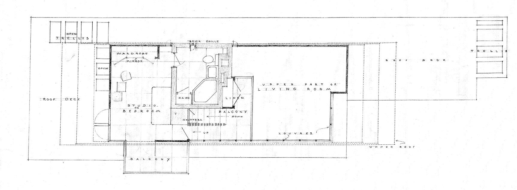 Usonian house plans usonia 1 99 invisible usonian house for Frank lloyd wright usonian home plans