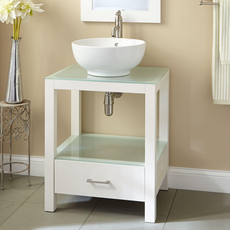 24 Mila Console Vanity With Vessel Sink Vanities Bathroom