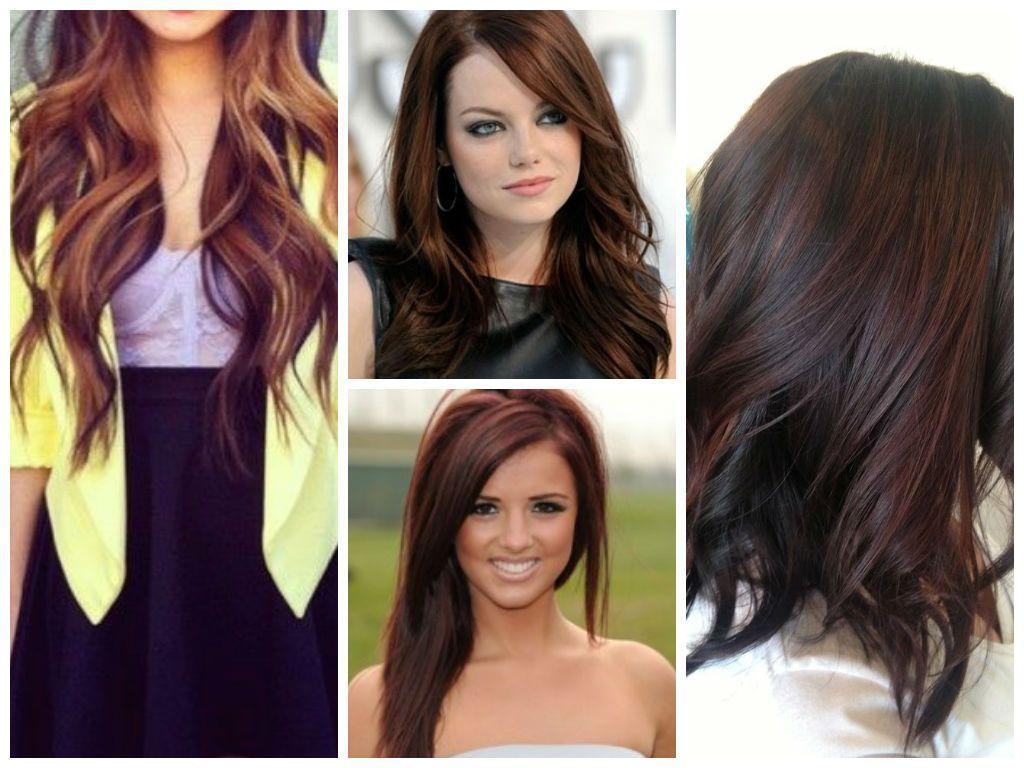 Hightlight ideas for brown hair hair pinterest brown red