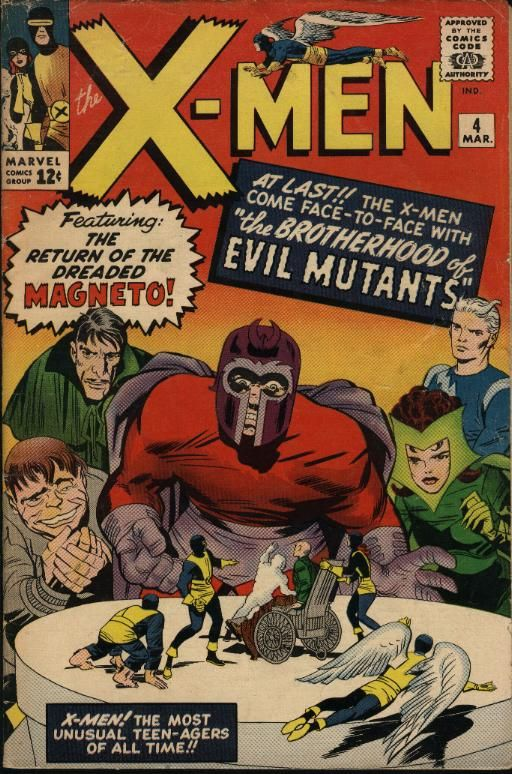 X Men 4 First Appearance Of The Brotherhood Of Evil Mutants Marvel Comic Books Marvel Comics Covers Comic Book Covers