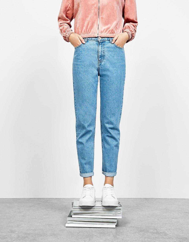 bershka hong kong mom fit jeans hight waist super. Black Bedroom Furniture Sets. Home Design Ideas