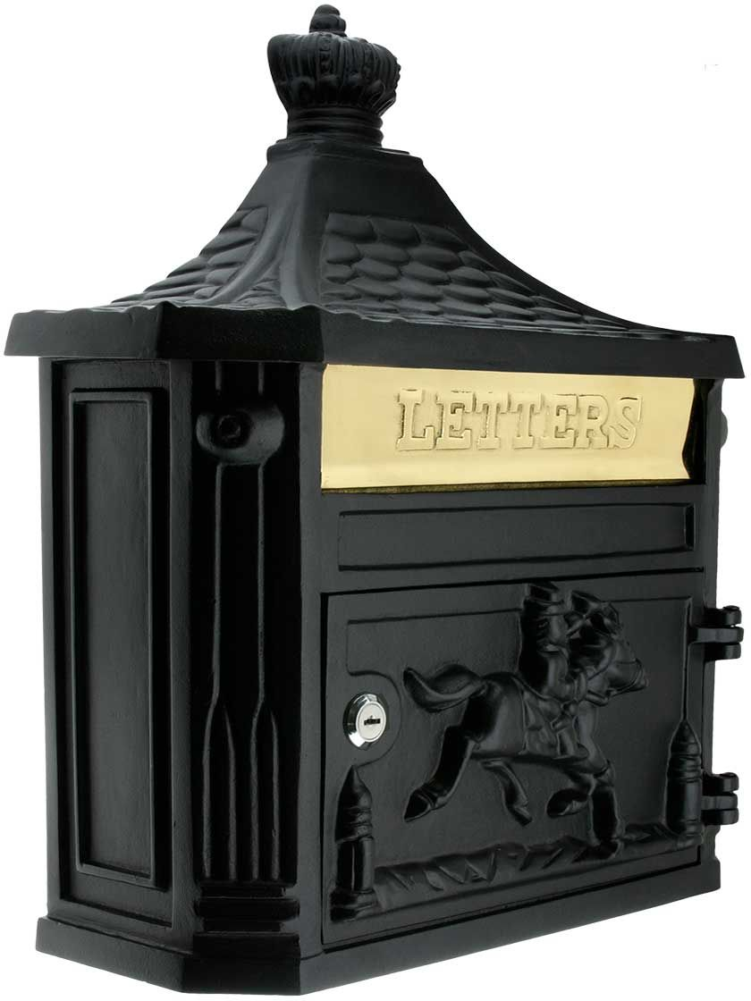Horseman Cast Aluminum Mailbox With Images Victorian Mailboxes Classic Home Decor Cool Mailboxes