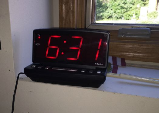A large number clock for the bedroom   means my father-in-law doesn't have to get as close as he did with his old alarm clock to see what time it is in the middle of the night.