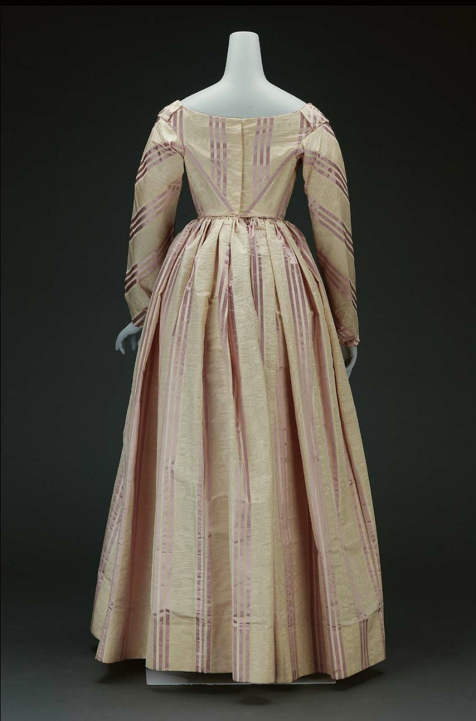 dress of white silk moire american mid19th century