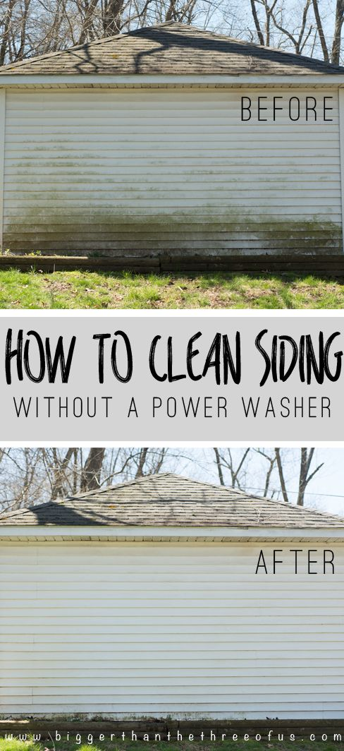 How To Clean Siding Without A Power Washer Bigger Than The Three Of Us Clean Siding House Cleaning Tips Cleaning Hacks