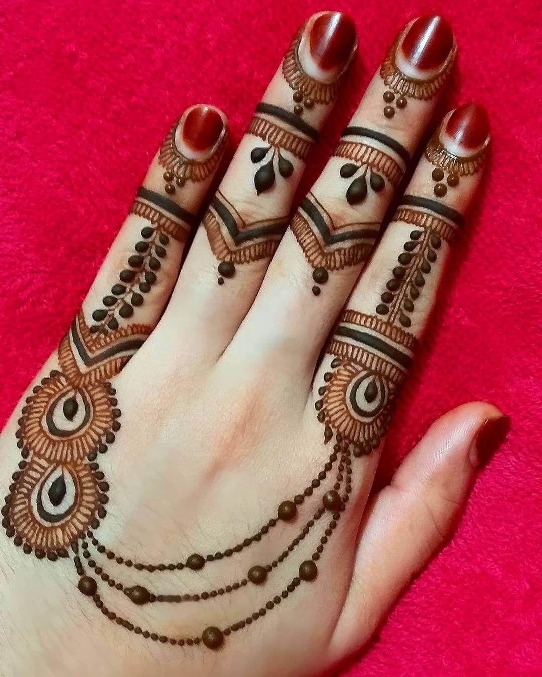 Finger Mehndi Mehndi Designs Simple