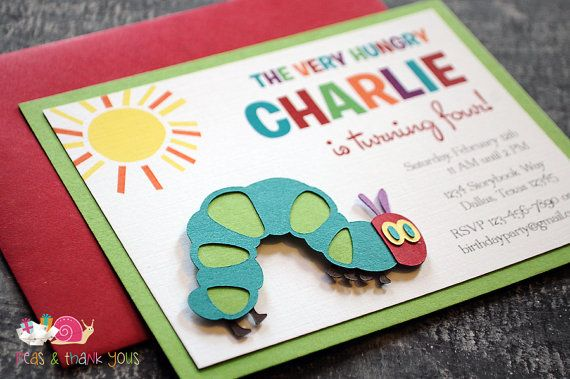 Hey, I found this really awesome Etsy listing at https://www.etsy.com/listing/160855472/very-hungry-caterpillar-invitations-a2